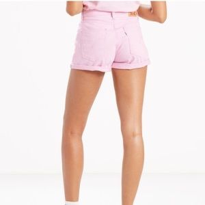 NWT Levi's 501 Pink Shorts Non-Stretch Size 30